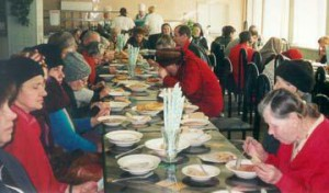 A meal at the CARITAS soup kitchen.