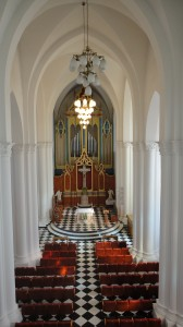 The interior of our Vladivostok church, as seen from the choir loft.