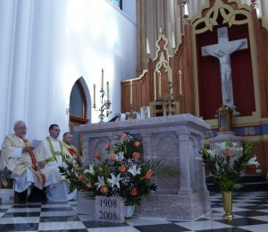 The crucifix had already been in place for nine months when the consecration occurred in 2008.