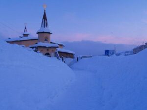 The Church of the Nativity of Jesus, the Catholic parish in Magadan.  Photographed by Fr. Michael Shields.