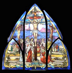 Window of the Crucifixion in our Chapel of the Martyrs.